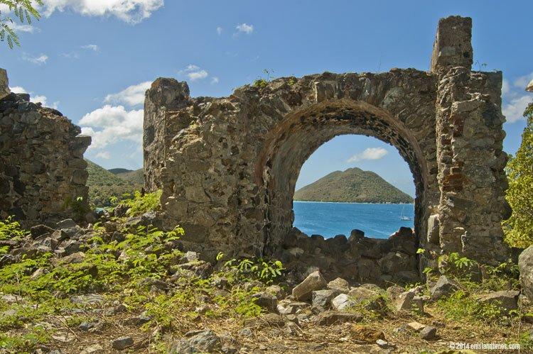 Old Danish Guardhouse ruins St John.