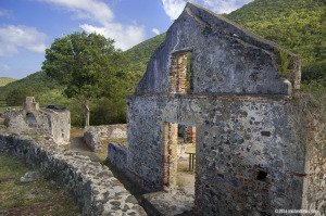 Annaberg Plantation ruins on St John, US Virgin Islands National Park