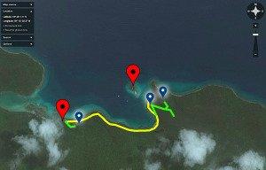 Waterlemon Cay snorkeling map