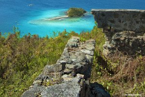 The Windy Hill ruins on St John, USVI