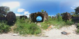 Old Danish Guard House ruins at Waterlemon Cay 360° / VR