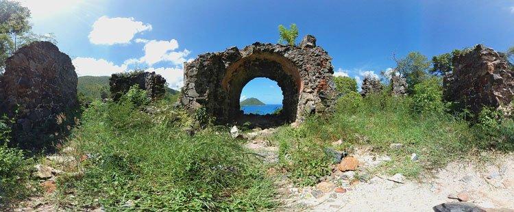Old Danish Guardhouse ruins, St John US Virgin Islands National Park