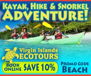 Virgin Islands Eco Tours, Kayak, Hike, Snorkel Waterlemon Cay